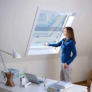 Insektenschutz-Rollo<br>auch für Dachfenster